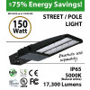 150W LED Street Light / Pole mount fixture 17300Lm 5000K UL IP65