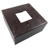 Straight Steel Square Pole Base Cover