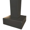 square steel pole with base cover