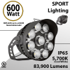 LED Stadium lights and arena light 600W 83900 Lm equal up to 2000W Metal Halide 5700K
