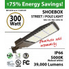 300W LED Shoebox Street Light fixture 39000Lm 5000K UL IP67 DLC