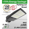 150W 200-480V LED Shoebox Street Light fixture 21400Lm 5000K ETL DLC