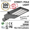 LED Street Light 300W 277-480V 42132 Lumens 5000K UL IP65