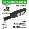 150W LED shoebox street light light 20900 lumens