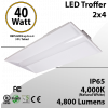 2x4 LED Recessed  Troffer 40W 4800 Lm 4000K Acrylic Frosted lens