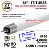 LED T5 Glass Tube Light 27 Watts Frosted Lens 3500 Lumens 4000K Plug And Play