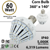 LED Corn Bulb 60W 6319Lm 5000K E39 IP40 ETL DLC