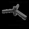 triple spoke bracket horizontal 120°