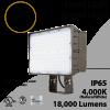 LED Flood light 135W 18000Lm 4000K Tunnel Light IP65 UL DLC