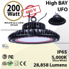UFO High Bay LED lamp 200 Watt 480 Volts 28858 Lumens 5000K ETL & DLC