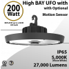 UFO Light LED High Bay 200W Motion Sensor Ready 2700Lm 5000K