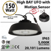UFO High Bay LED Light 150 Watt w/ Motion Sensor 200-480VAC 20101 Lumens 5000K UL