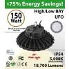 150W LED High Bay Light UFO 18700 Lumens 5000K UL DLC