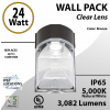 LED Wall Pack light 24W 3082Lm 5000K IP65 UL