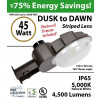 45w LED Dusk to dawn light 4500 Lumens 5000K natural white bronze