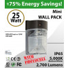 25W LED Mini Wall Pack 2700Lm 5000K IP65 W/photocell