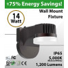 14W LED Mini Wall Mount Fioxture 1200Lm 5000K IP65 W/photocell