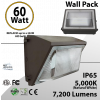 60W LED Wall Pack No CUTOFF 7259Lm DLC 5000K