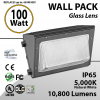 100W LED Wall Pack Fixture: 10800 Lumens 5000K IP65 UL DLC
