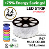 RGB LED rope by the foot 166 lumens per foot 2.4 Watts
