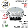 700 Watt hid Replacement for 150W LED retrofit kit 6000K 480 volts