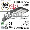 300W 277-480V LED Shoebox / Street Light / Pole mount fixture 34400 Lumens 5000K UL IP65