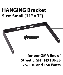 "U Shape Hanging bracket for OMA-GWE/GNE Series (75W, 110W & 150W) Size: 11"" x 7"""
