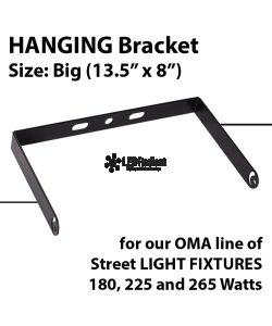 "U Shape Hanging BIG bracket for OMA-GWE/GNE Series (180W, 225W & 265W) - SIZE: 13.5"" x 8"""