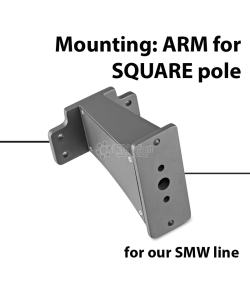 Mounting: ARM for square pole for SMW series