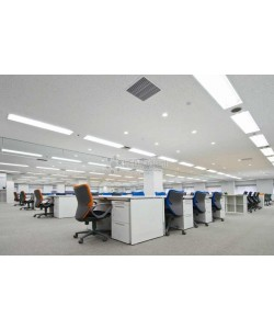 30w LED Linear Lighting Vapor Tight Light Fixture: 3300 Lumens, 5000K, Striped Lens, IP65, UL