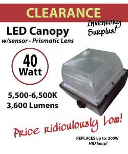 40W LED Canopy Lamp Fixture Retrofit Kit Energy Efficient Savings Ceiling mount