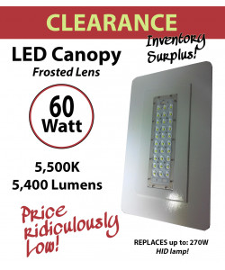 60W LED Canopy Lamp Fixture Retrofit Kit Energy Efficient Savings Ceiling mount