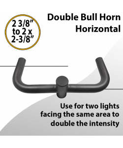 Double Bullhorn Horizontal Facing Same Side