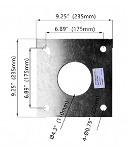 """Hole Pattern Template for 3"""" and 4"""" Round Light Pole"""