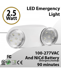 LED Emergency Light with battery backup 2.5 Watt 90 Minutes