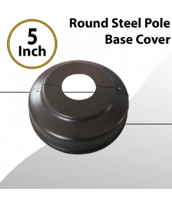 Round Light Pole 5 inch Base Cover Steel Painted (Sold with poles only)