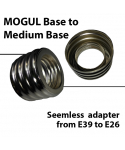 Mogul to medium base adapter converter