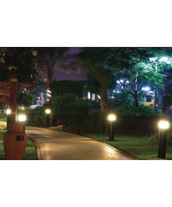 Bollard lights LED source included 3.5Ft. X 9.5 inches 26W Dark Bronze round.