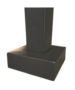 Square Steel Painted 4 inch Base Cover for Light Pole (Sold with poles only)