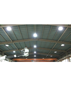 100w LED High Bay Light UFO: 12300 Lumens, 3000K, UL, DLC
