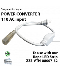 110 AC input Power converter, drive 82 ft / pc for ZZS-VTN-08007-32