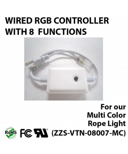 Wired driver for multi color rope light (ZZS-RGB-08007-MC)