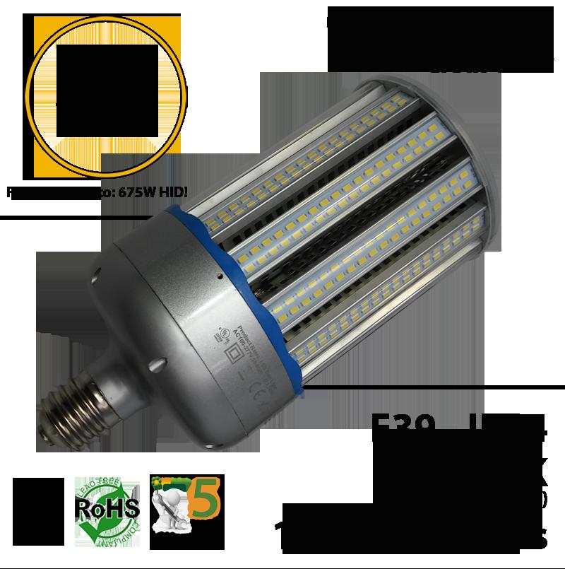 150 Watt Led Corn Light Bulb 750w Equivalent 17 000 Lumens