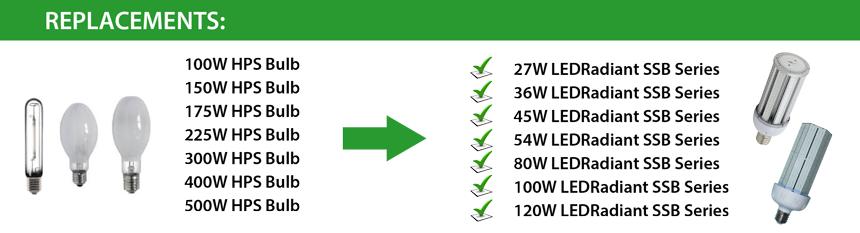 250 Watt Equivalent 54w Led Light Bulb 5900 Lumens 6000k