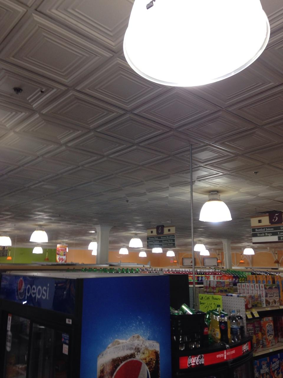 Food Market using Ledradiant 100w LED corn bulb light