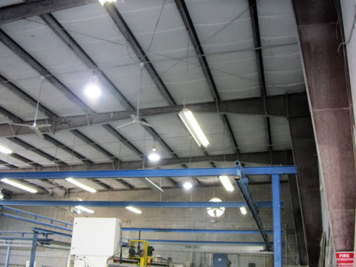 ALPHA STONE manufacturing plant with LEDRadiant Luminaires