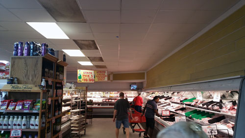 Food Market using Ledradiant 100 watts LED corn bulb light