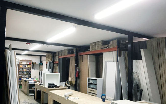 Armadi closets using Ledradiant 8 footers LED tubes in their workstations