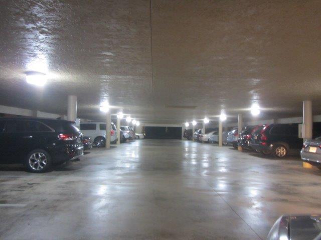 Crescent Beach parking garage with Ledradiant 36 watts LED corn bulb light