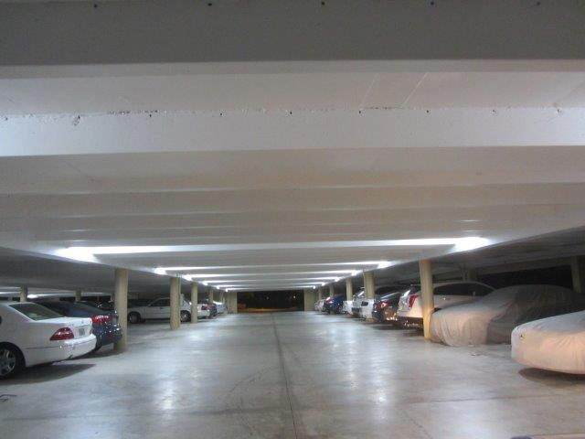 Crescent Beach parking garage with Ledradiant 36 watts LED corn bulb light saves 75% in electric bill